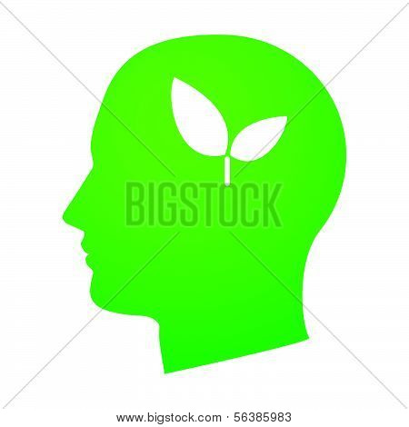 Head With An Ecological Icon