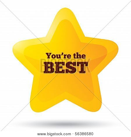 You are the best icon. Customer service award.
