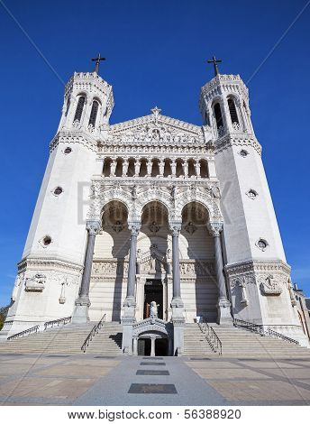 Vertical View Of Notre Dame De Fourviere