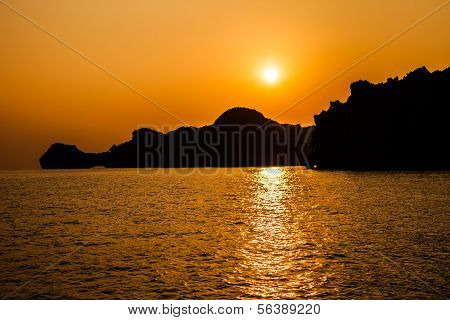 Sea Sunset in Vietnam
