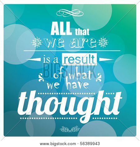 Quote, inspiration message, typographic background, vector illustration