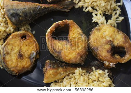 fish mackerel  with spices