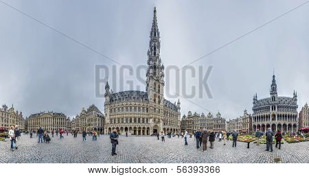 The Grand Place In Brussels, Belgium.
