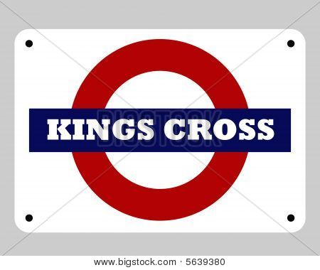 Kings Cross Underground Sign