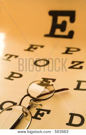 Gráfico de teste de olho