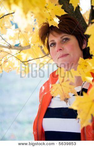 Woman In Fall