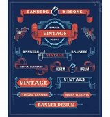 image of steampunk  - Vintage Banners and Ribbon Design Elements - JPG
