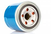 image of combustion  - Oil filter for an internal combustion engine isolated on a white background - JPG