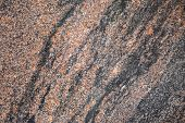stock photo of granite  - Red and gray granite stone background texture - JPG