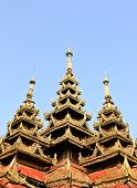 pic of chums  - Burma sanctuary roof in Wat Sri Chum Lampang - JPG