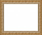 Antique Rustic Silver Picture Frame Isolated