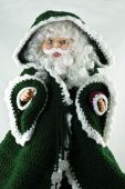 Santa Claus In A Green Coat