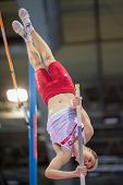 GOTHENBURG, SWEDEN - MARCH 2 Robert Sobera (POL) competes in the qualification of the men's pole vau