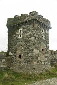 stock photo of anglesey  - Folly tower ironically converted to a World War II pillbox - JPG