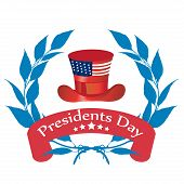foto of state shapes  - a red and blue icon for presidents day - JPG