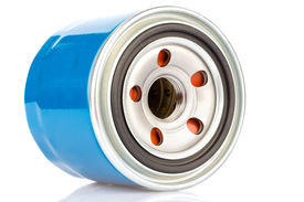 picture of lube  - Oil filter for an internal combustion engine isolated on a white background - JPG