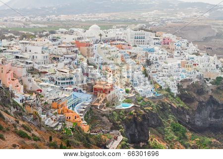 Thira, the capital of Santorini island