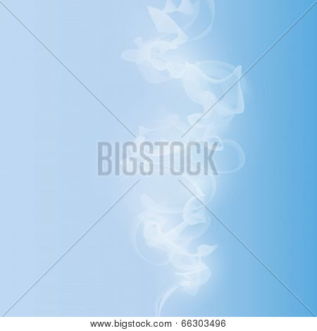 white smoke on a blue background vector