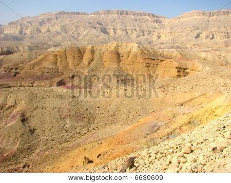 Crater in Negev desert