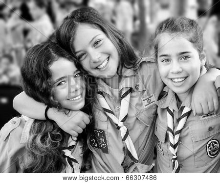 Israel Scouts In Black And White