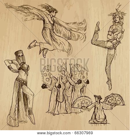 Dancers No.5 - Hand Drawn Collection, Vector