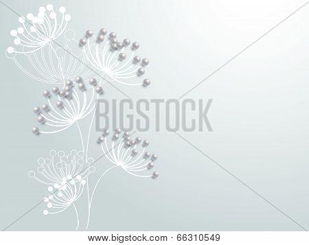 Lovely wedding paper card element pattern design