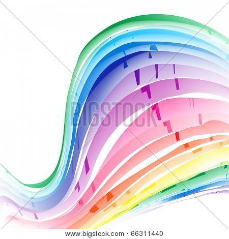 Rainbow background. Vector Illustration, Graphic Design Editable For Your Design.