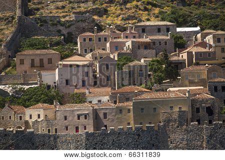 Medieval fortress in Greece - Monemvasia.