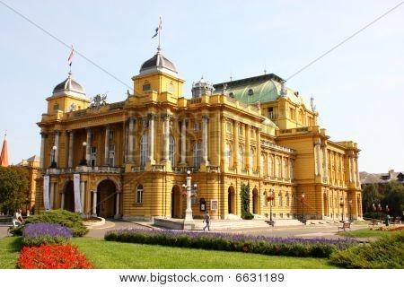 Croatian National Theatre In Zagreb