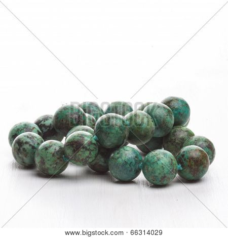 Green Semi Precious Stone Necklace
