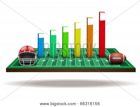 Concept of statistics about the football