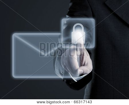 Secure Email Concept On Virtual Touch Screen