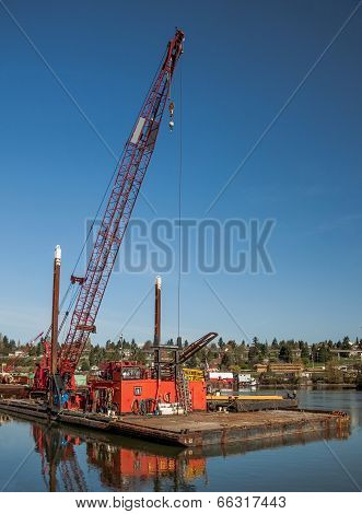 ?argo crane on a barge