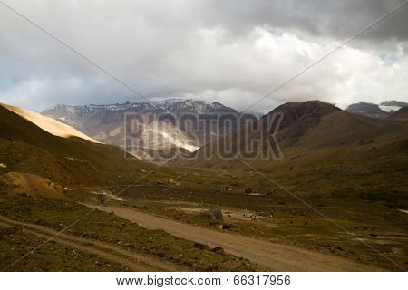 Cajon del Maipo canyon and Embalse El Yeso, Andes
