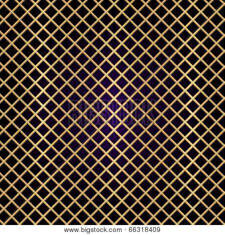 Vector gold lattice on black background