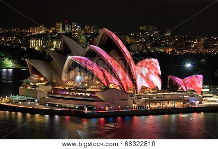Front Elevated View Of Sydney Opera House