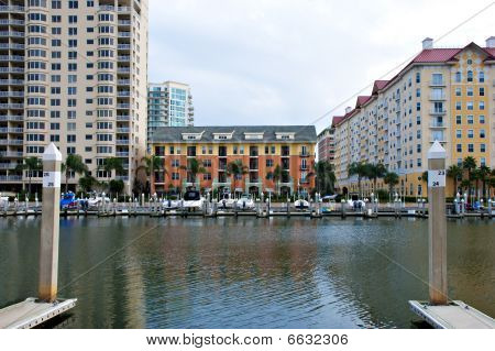 Small Apartment Building And Marina