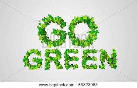 Go Green Leaf Particles 3D