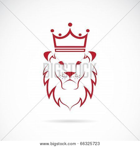 Vector Image Of An Lion Crowned