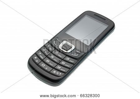 Old cell phone isolated, with clipping path, Large depth of field