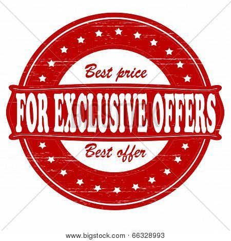 For Exclusive Offers