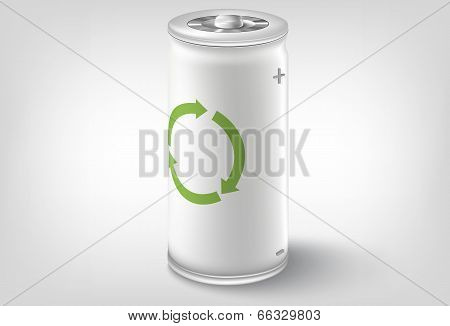 Battery icon. Vector conceptual design