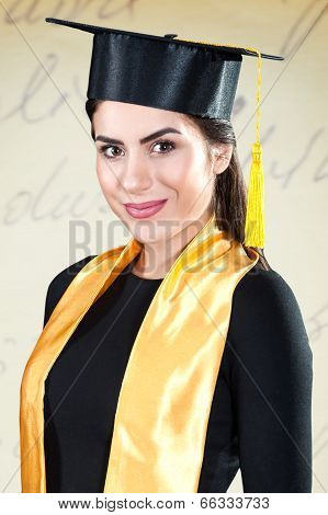 Portrait of young graduate smiling
