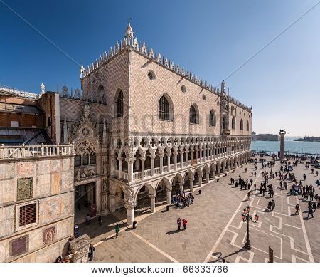 View On Piazza San Marco And Doge's Palace From San Marco Cathedral, Venice, Italy