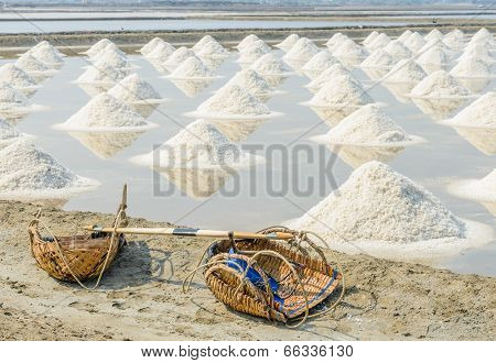 Heap Of Sea Salt For Harvesting