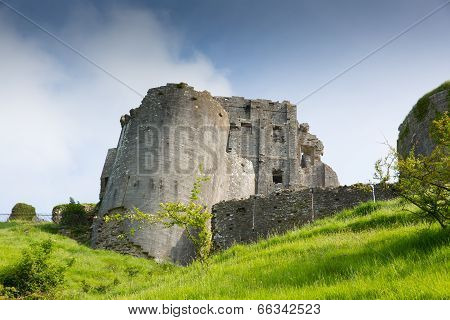 Corfe Castle Dorset England built by William the Conqueror in 11th century