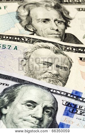 Close-up On The Numbers Of Dollar Bills