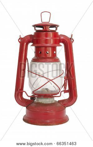 old red lantern isolated