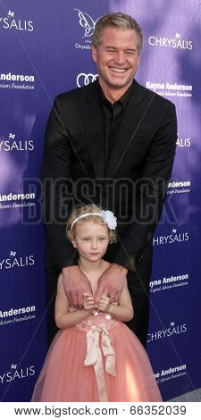 LOS ANGELES - JUN 7:  Eric Dane, Billie Beatrice Dane at the 13th Annual Chrysalis Butterfly Ball at Private Mandeville Canyon Estate on June 7, 2014 in Los Angeles, CA