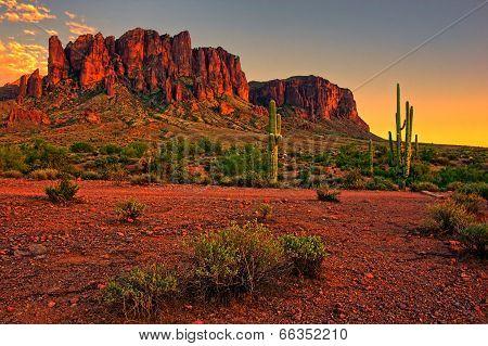 American desert sunset